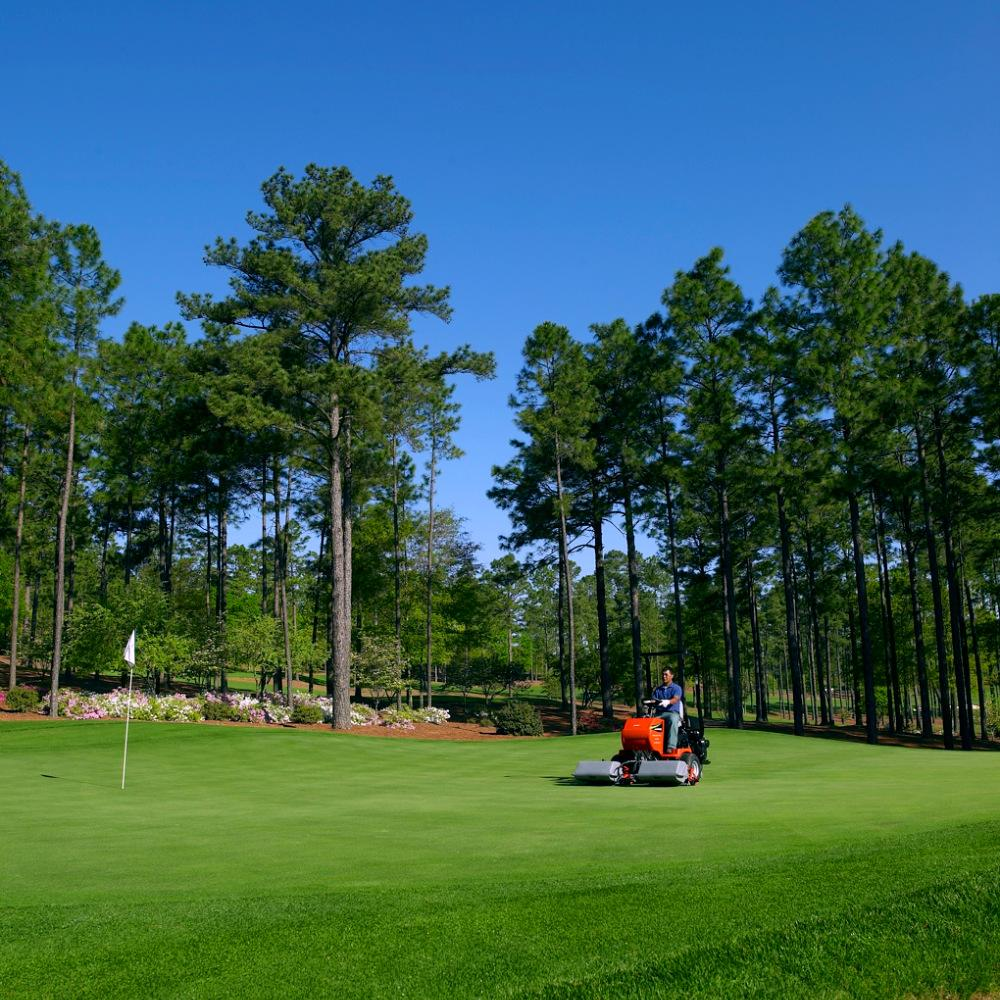 Jacobsen Greens King IV Plus with Steerable Cutting heads Move Independently